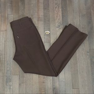 Groovy Vintage 70's Levi's brown Polyester Pants!